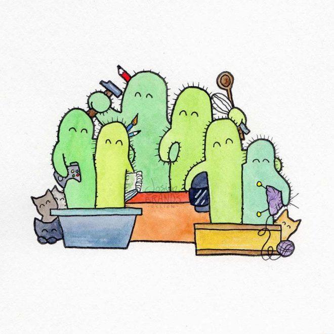 Cacti Family Brandsenbende