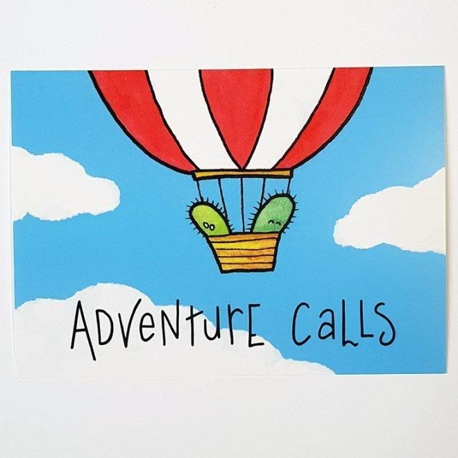 Adventure Calls Ansichtkaart