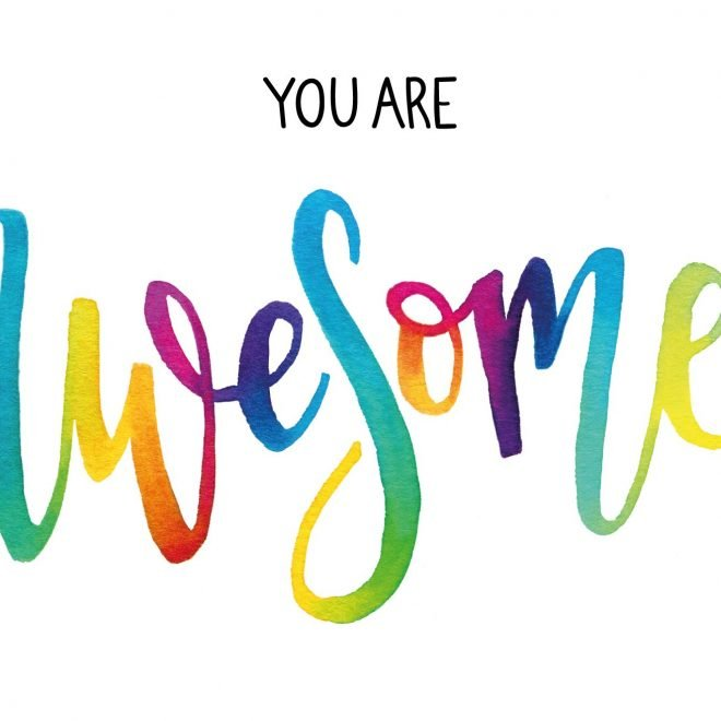 You Are Awesome card geen lijn