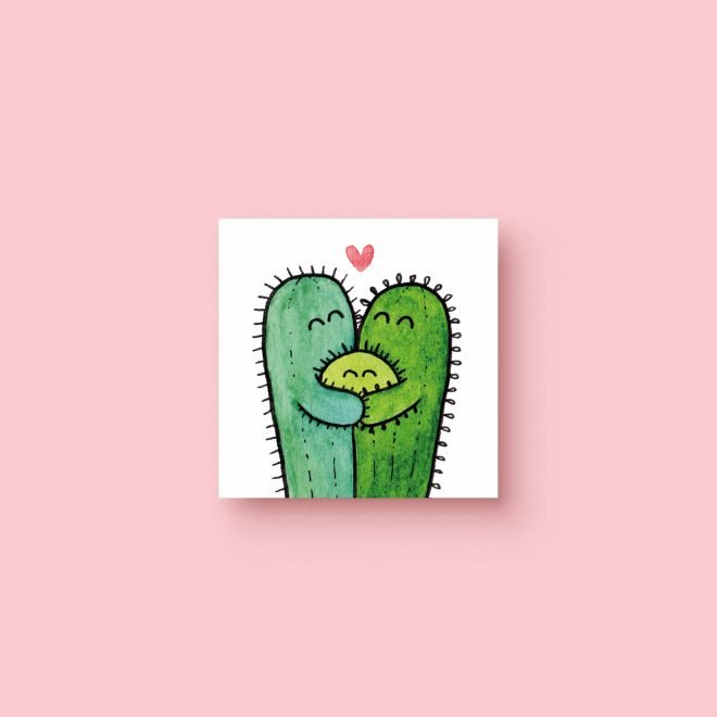 Cactus Couple Baby 5x5