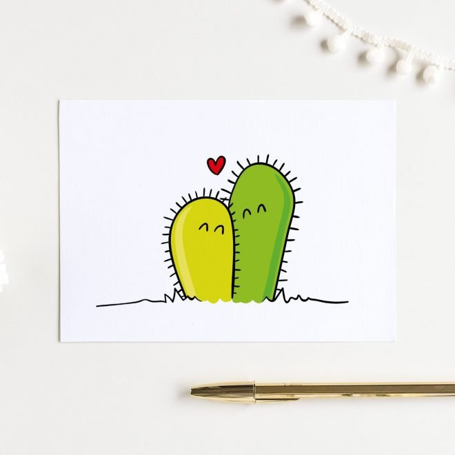 Cactus couple kaart