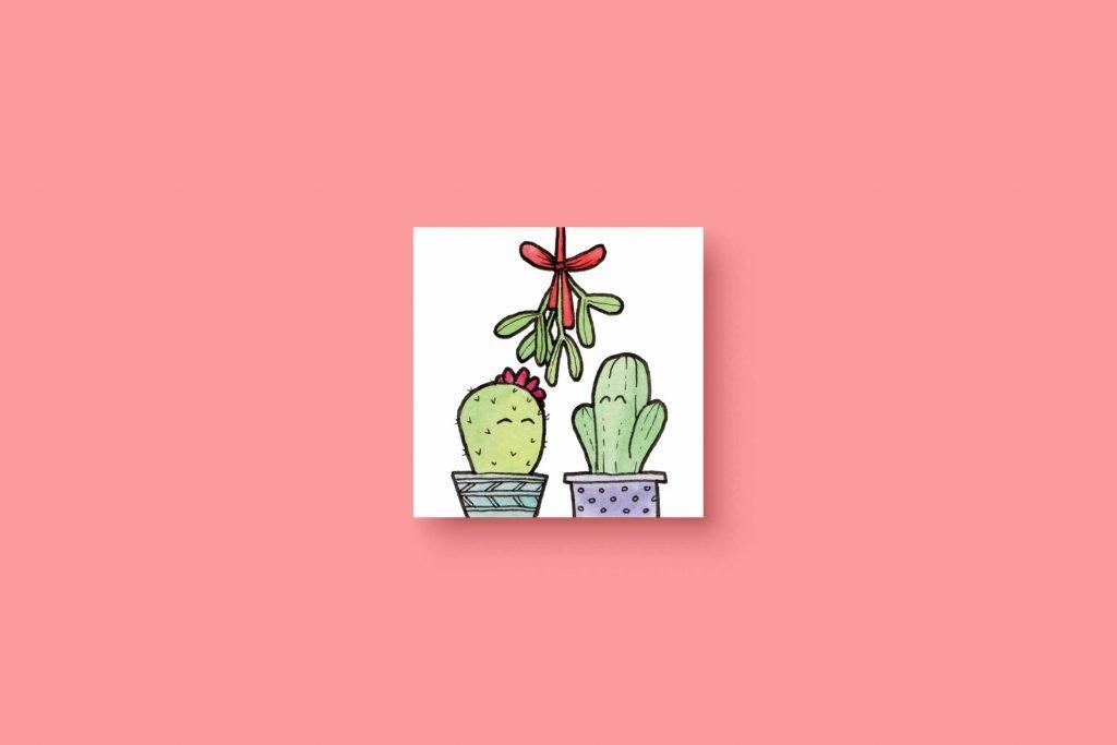 Cactus Mistletoe 5x5