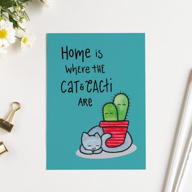 Cat Cactus kaart