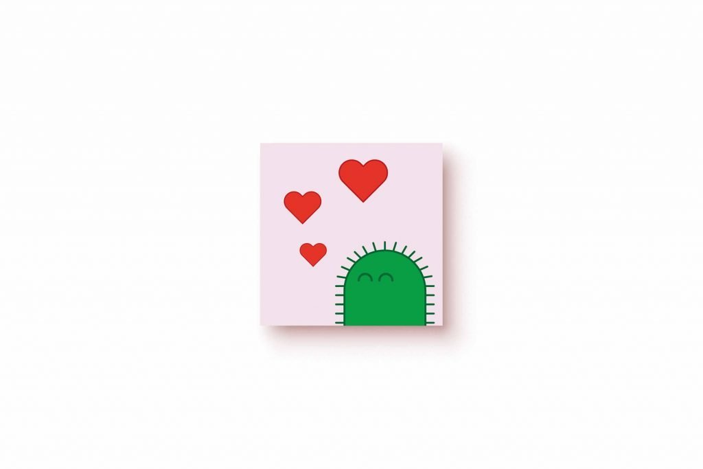 Digi Cactus Hearts 5x5
