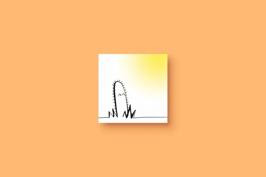 Ink Cactus Sun 5x5