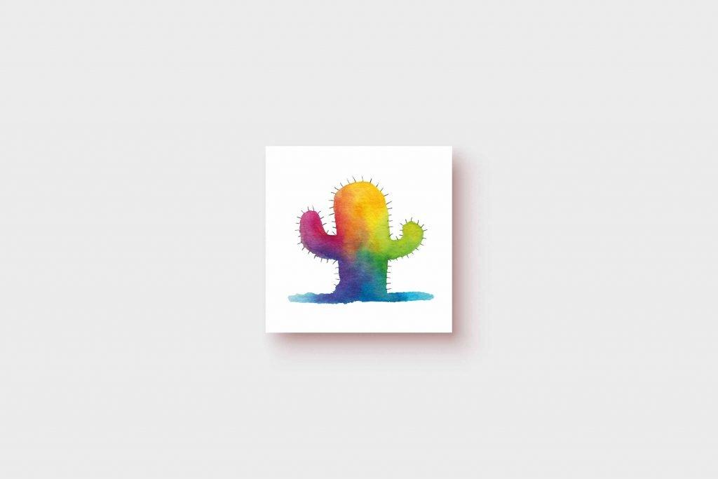 Rainbow Cactus 5x5