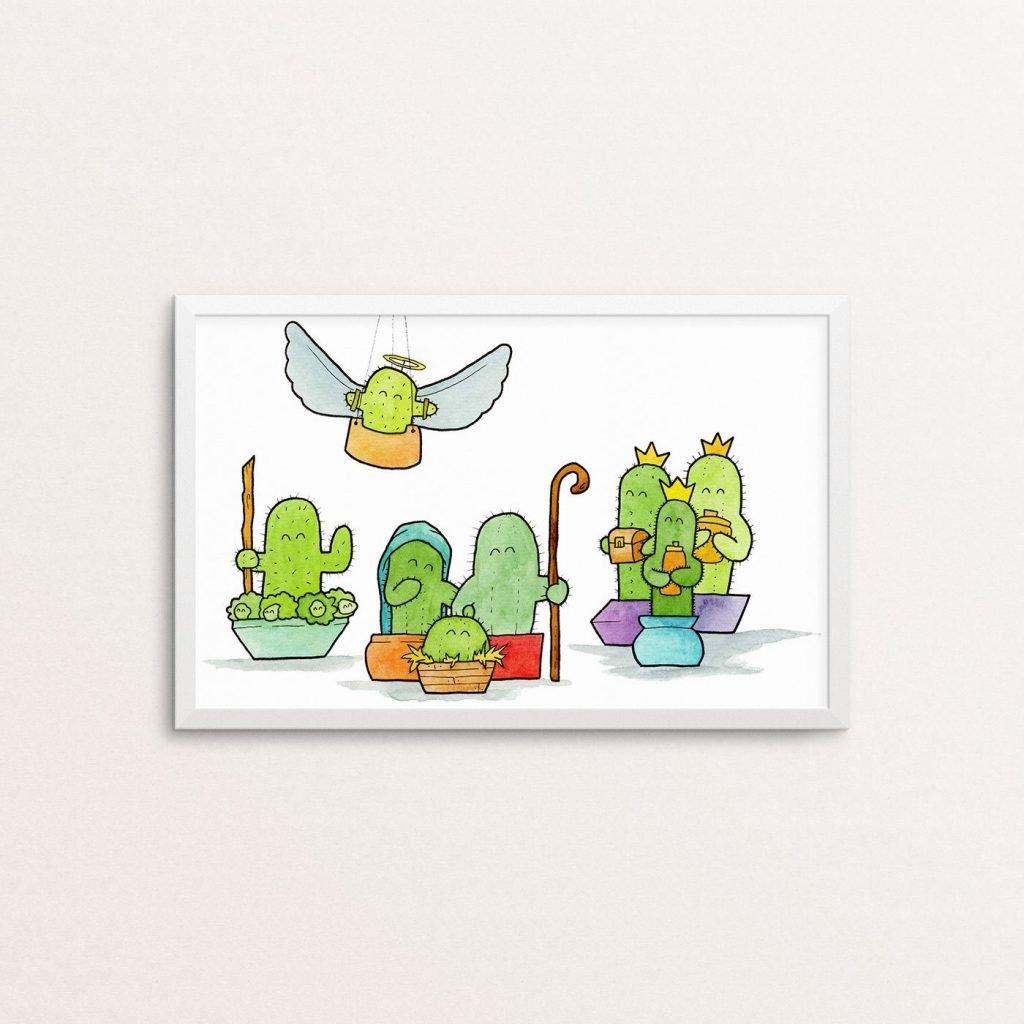 Tiny Cacti Christmas Poster
