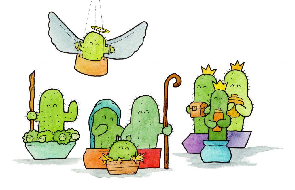 Tiny Cacti Kerstkaart