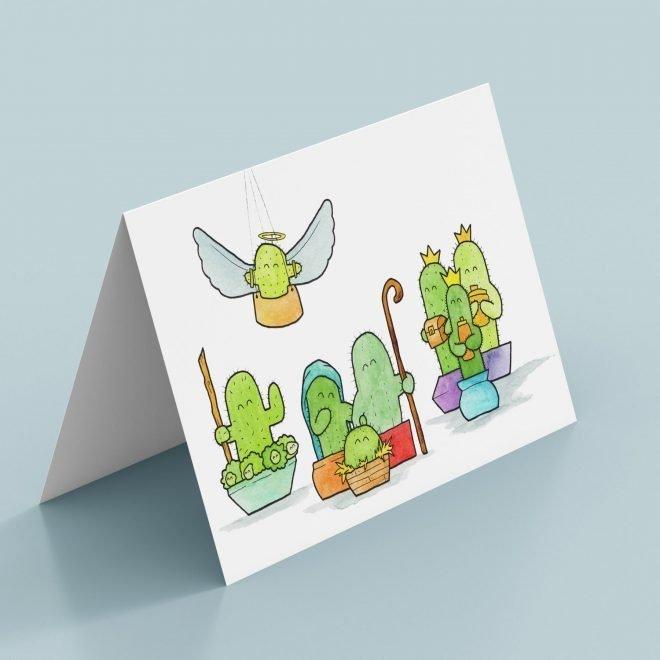 Tiny Cacti Kerstkaart Voorbeeld