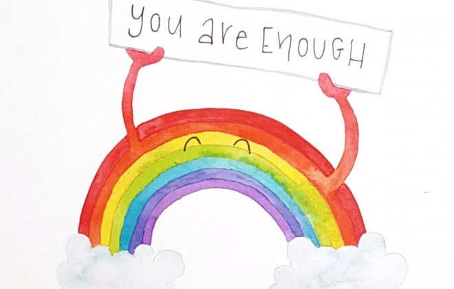 You Are Enough Rainbow