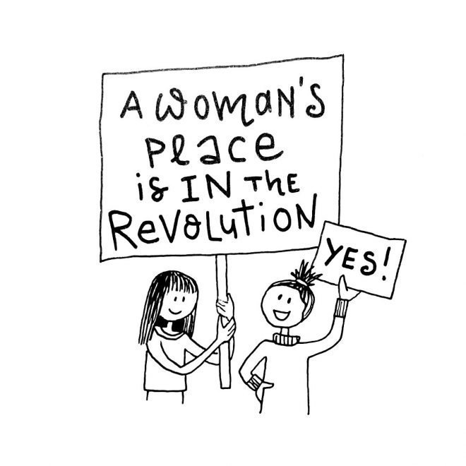 Womans place is in the Revolution