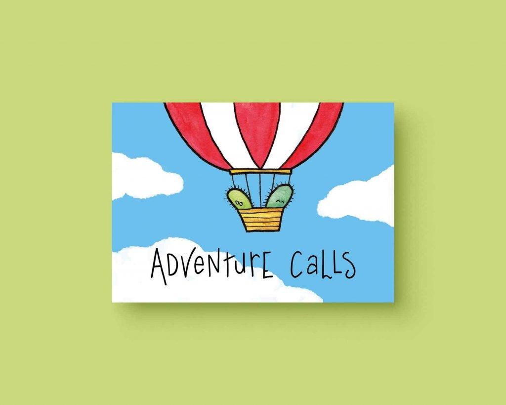 Adventure calls cactus ansichtkaart