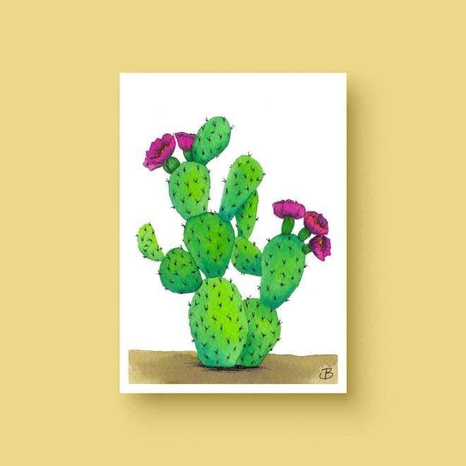 Bloeiende cactus ansichtkaart