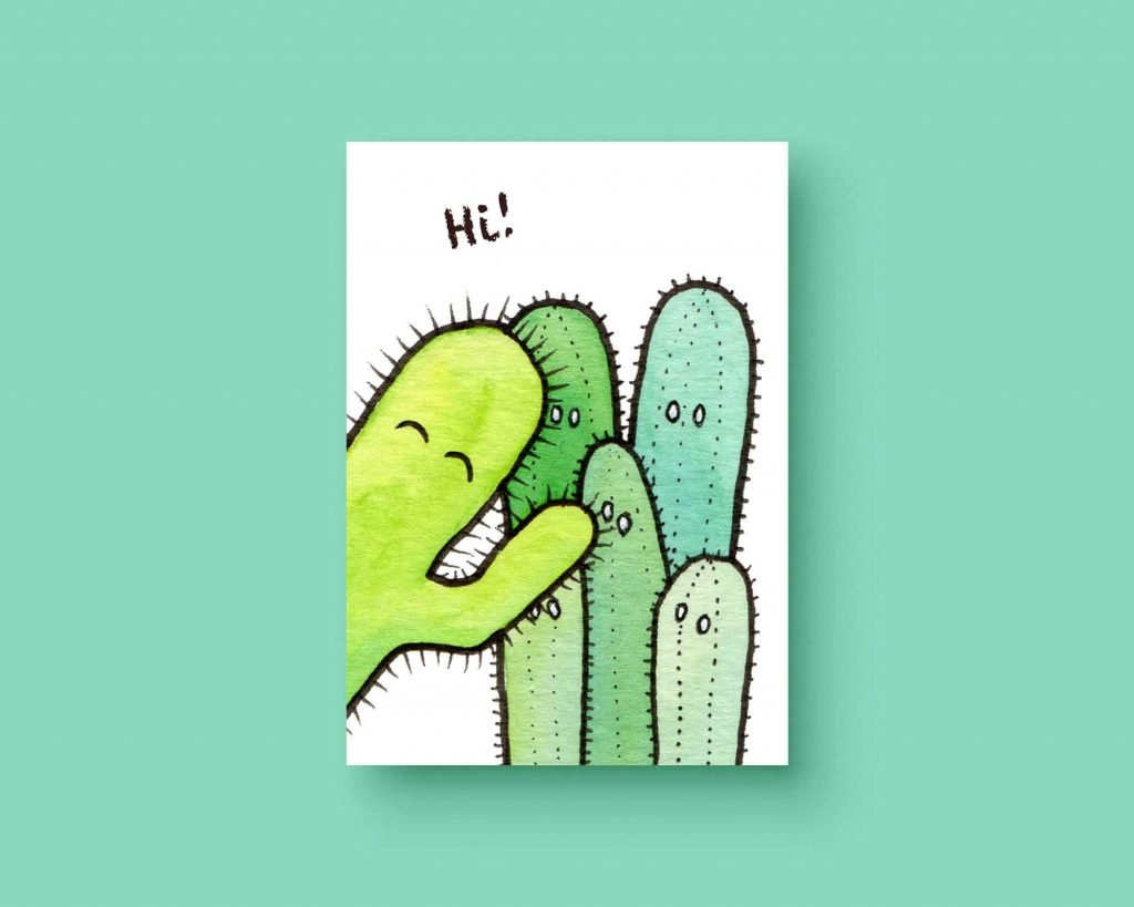 Cactus hi ansichtkaart
