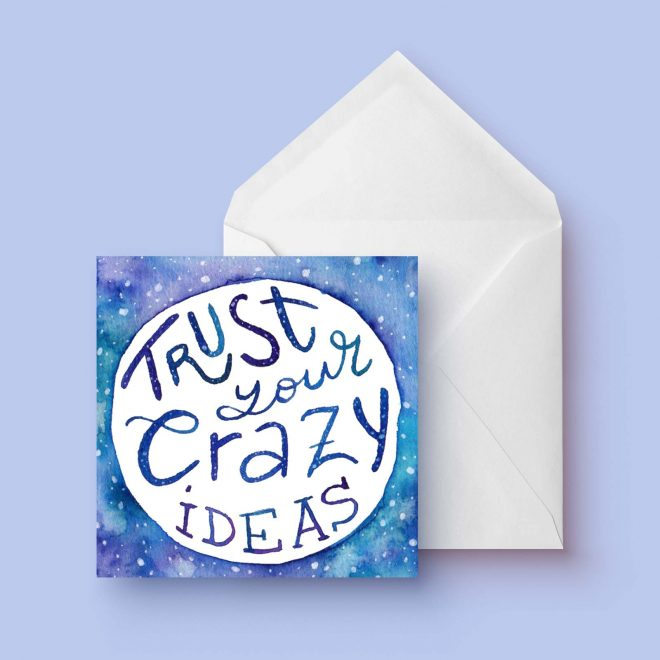 Crazy ideas dubbele kaart