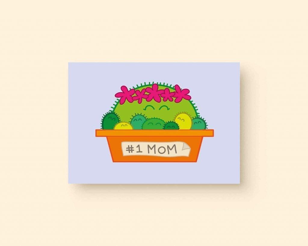 Cactus mom ansichtkaart