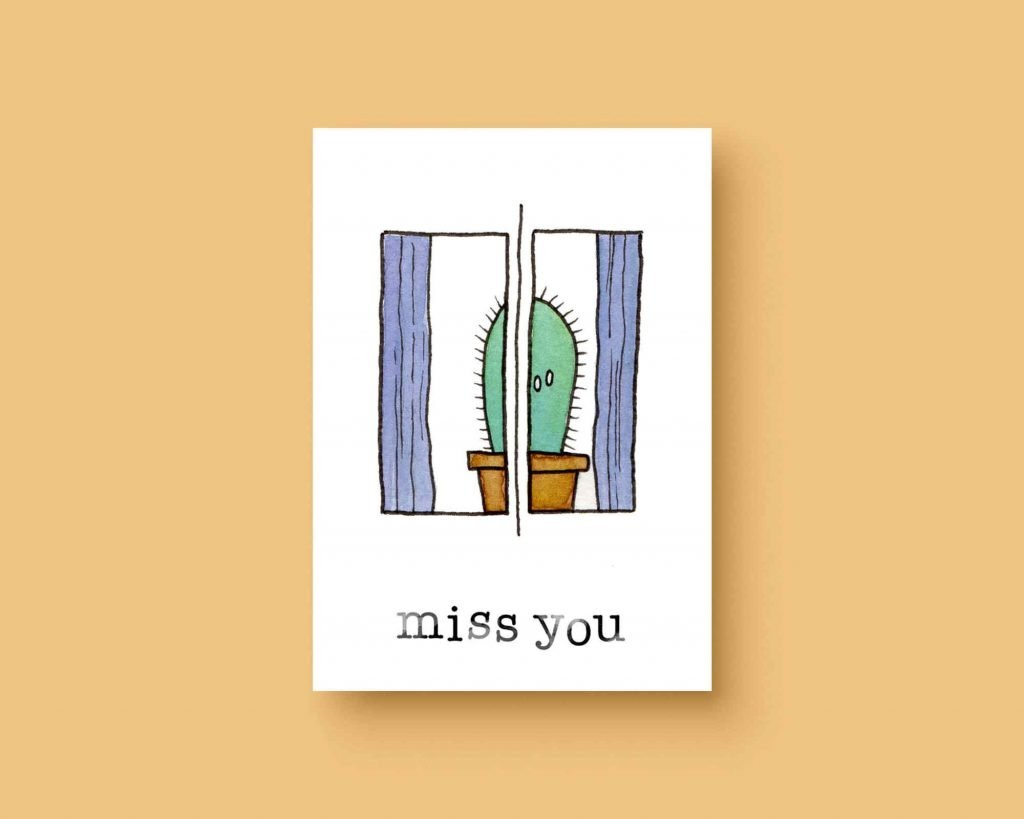 Missing you ansichtkaart