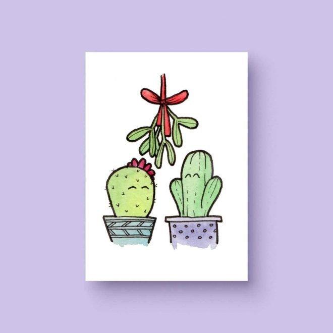 Mistletoe cactus ansichtkaart