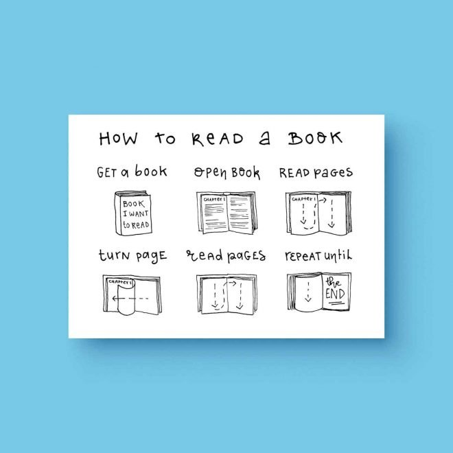 How to read a book ansichtkaart