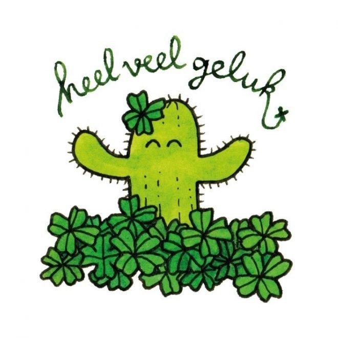 Veel geluk cactus