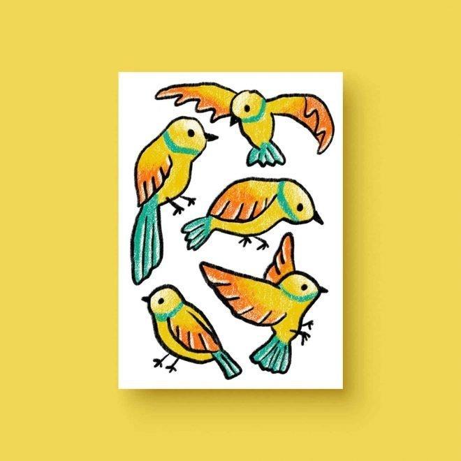 Vogels ansichtkaart
