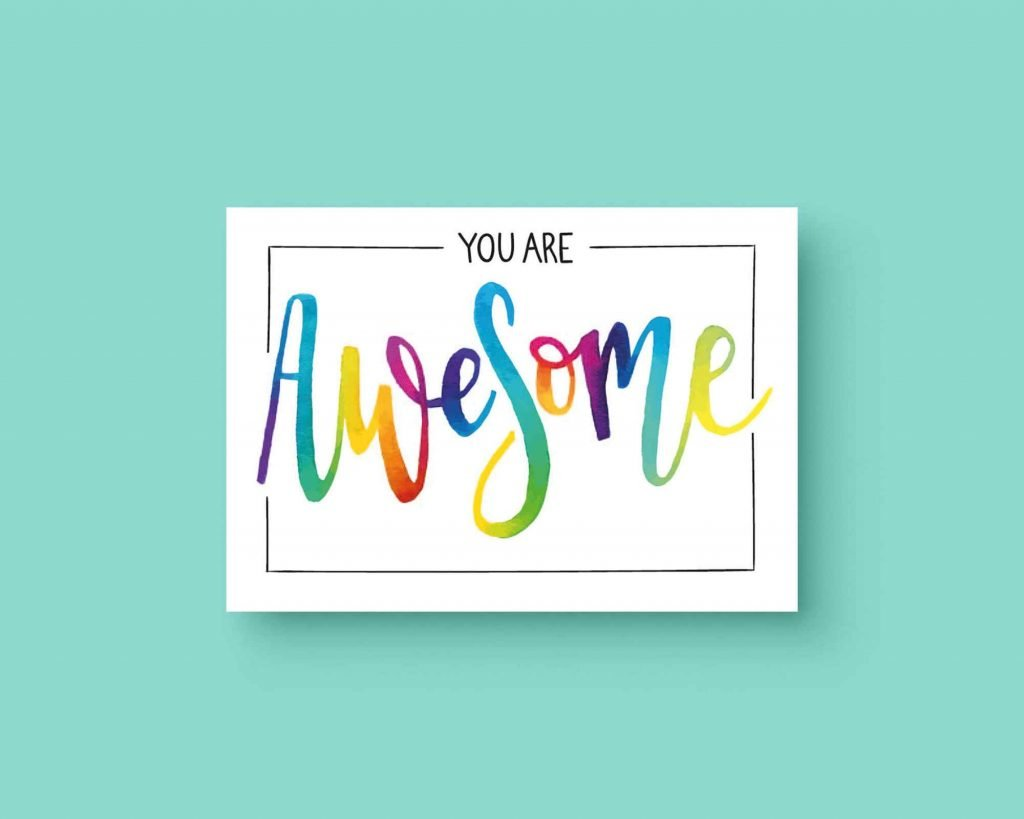You are Awesome ansichtkaart